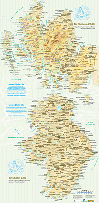 Mapa Tìr Chaluim Chille